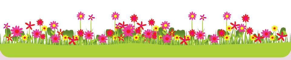 Футер цветы